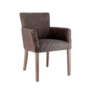 design stoel donkerbruin