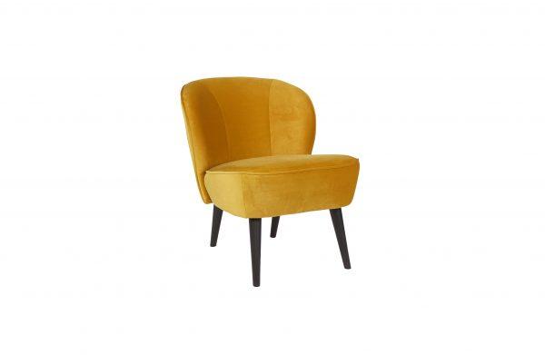 vintage fauteuil geel