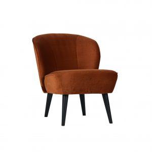 vintage fauteuil bruin