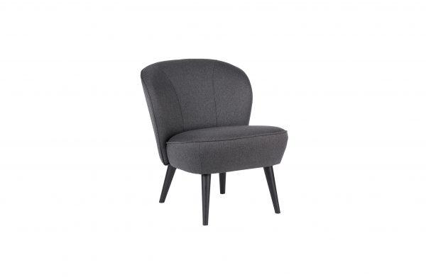 vintage fauteuil donkergrijs