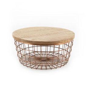 industriele meubel tafel bruin